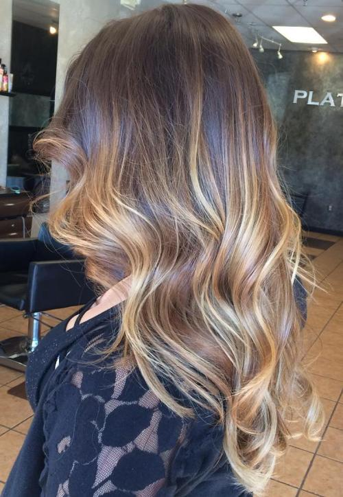 45 balayage hairstyles 2018 balayage hair color ideas - Balayage braun caramel ...