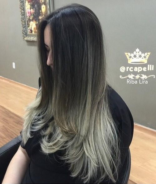 Black Ombre Hair With Center Part Pretty Designs