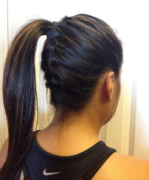 19 Pretty Ways to Try French Braid Ponytails - Pretty Designs