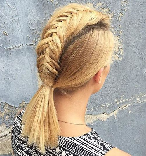 Braided Ponytail for Straight Hair