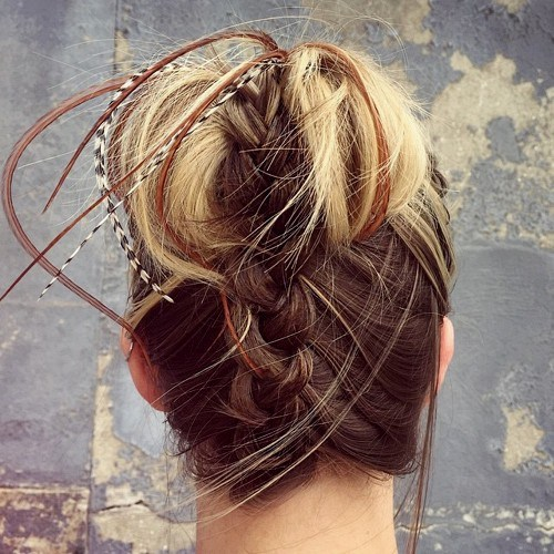 Braided-up Hair