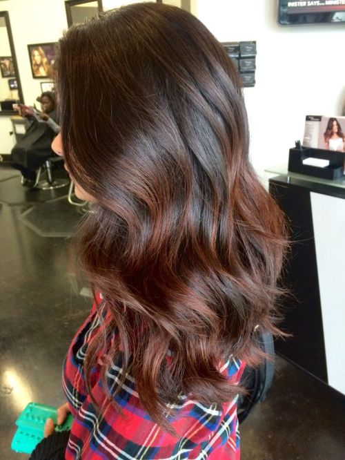 Brown Highlights for Brunette