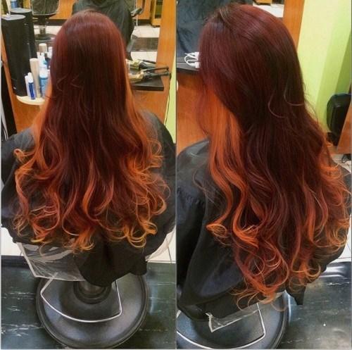 Burgundy Curls