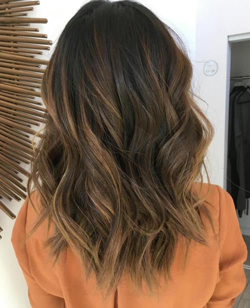 Caramel Highlights for Long Hair
