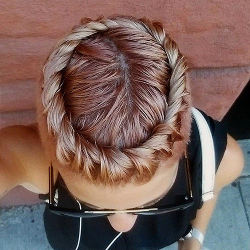 Chocolate Crown Braid