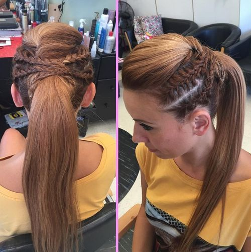Awesome 19 Pretty Ways To Try French Braid Ponytails Pretty Designs Hairstyle Inspiration Daily Dogsangcom