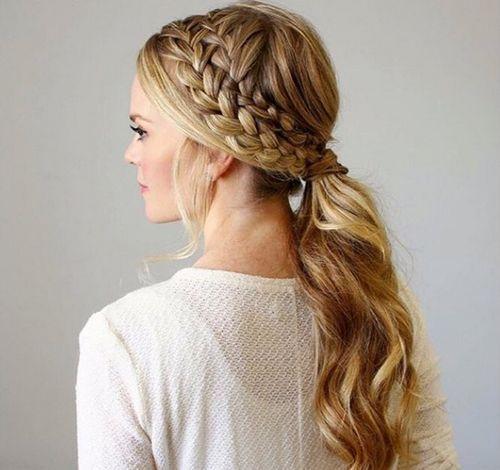 Brilliant 19 Pretty Ways To Try French Braid Ponytails Pretty Designs Short Hairstyles Gunalazisus