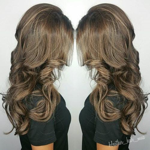 Golden Brown Waves