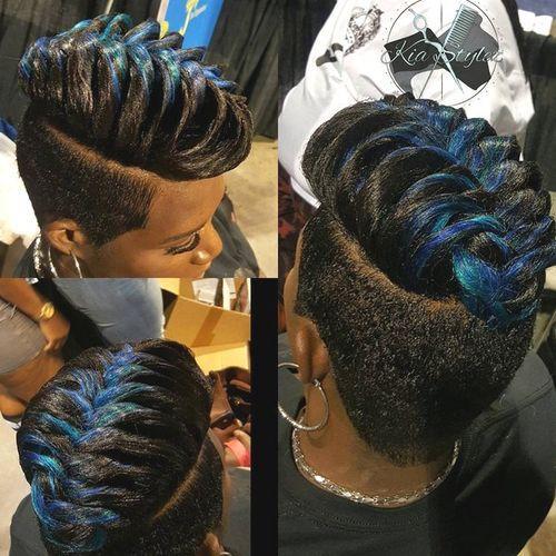 Highlighted Braided Hair