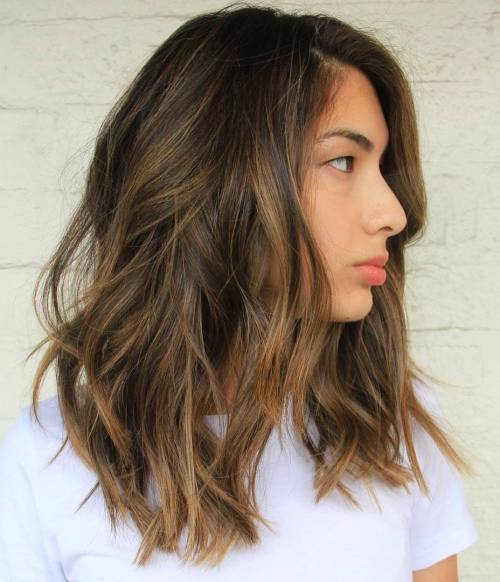 Messy Balayage Long Bob