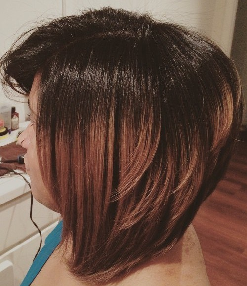 Ombre Inverted Bob