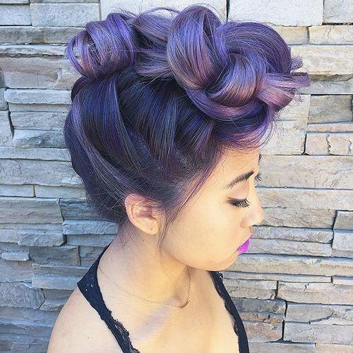 Purple Updo