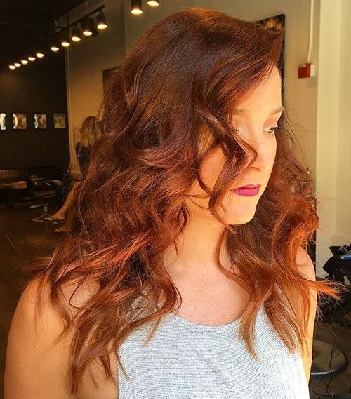 Red and Brown Mid-length Curls