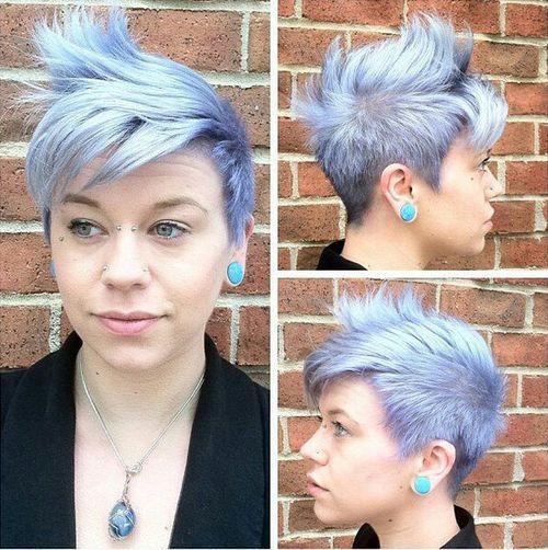Silver Blue Short Hair
