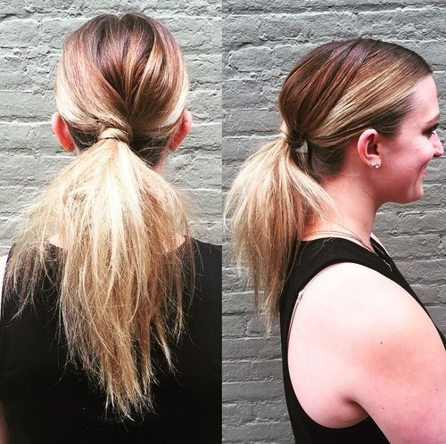 Simple Ponytail for Highlighted Hair