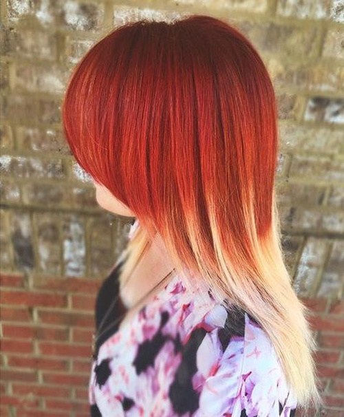 Two Tone Fall Hair