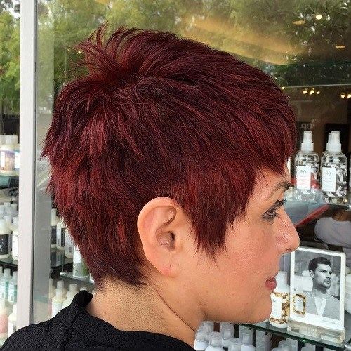 Wine Red Pixie