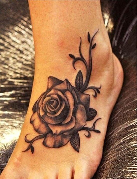 Voet Tattoo Ideeën voor Meisjes