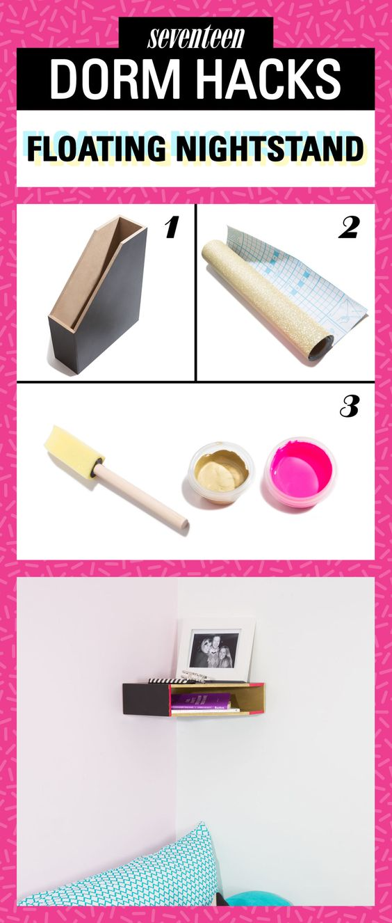 Decorating Ideas > 10 Dorm Room DIYs To Make Your Room Feel Homey  Pretty  ~ 152739_Seventeen Magazine Dorm Room Ideas