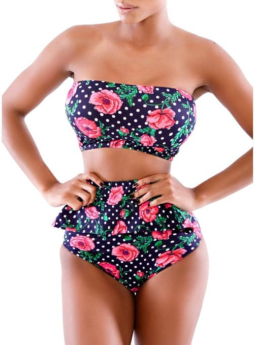 14 hooggesloten bikinis om deze zomer te rocken Outfits  bikini's met hoge taille