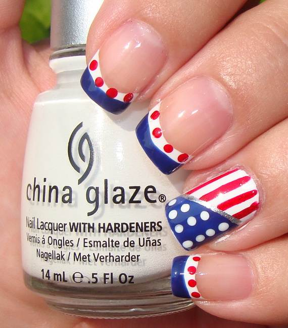 26 patriotic nail art designs to try at your fourth of for 4th of july nail art decoration flag