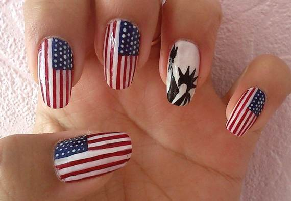 Nice Homemade Natural Nail Polish Tiny Chanel Nail Polish Cheap Square Lamisil Nail Fungus Easy Nail Art For Kids Step By Step Youthful Changing Gel Nail Polish SoftEllie Nail Polish 26 Patriotic Nail Art Designs To Try At Your Fourth Of July Party ..