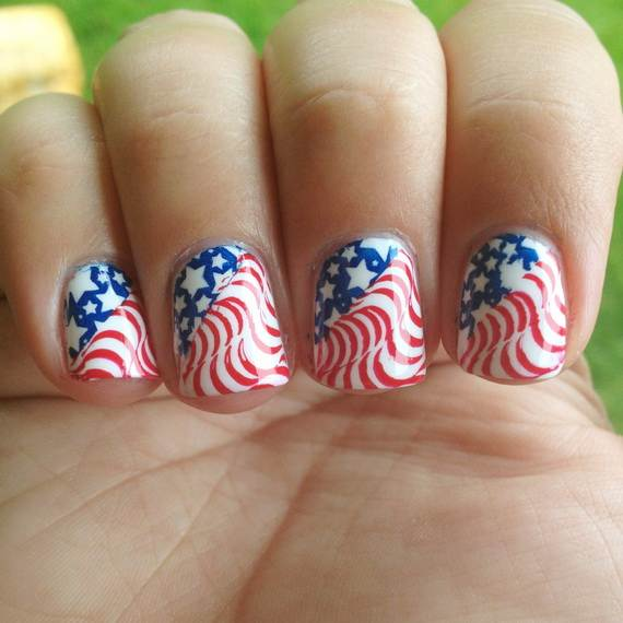 26 Patriotic Nail Art Designs To Try At Your Fourth Of