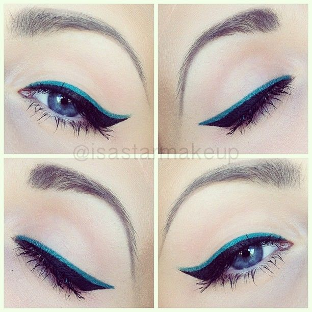 How to Apply Dramatic Colorful Eyeliner - crazyforus