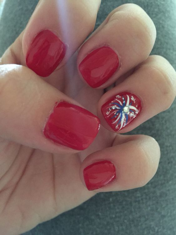 Patriotic Nail Art Design - 26 Patriotic Nail Art Designs To Try At Your Fourth Of July Party