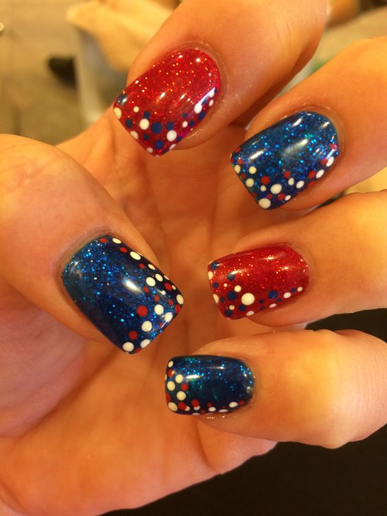 26 patriotic nail art designs to try at your fourth of july party patriotic nail art to try at your fourth of july party prinsesfo Choice Image