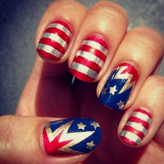 Nail art designs for 4th of july : Nail art designs to try at your fourth of july party pretty