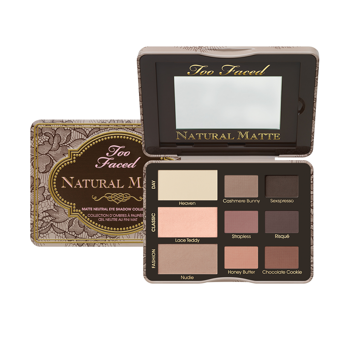 w Too Faced Natural Matte Eye Palette - best eyeshadow palettes for beginners