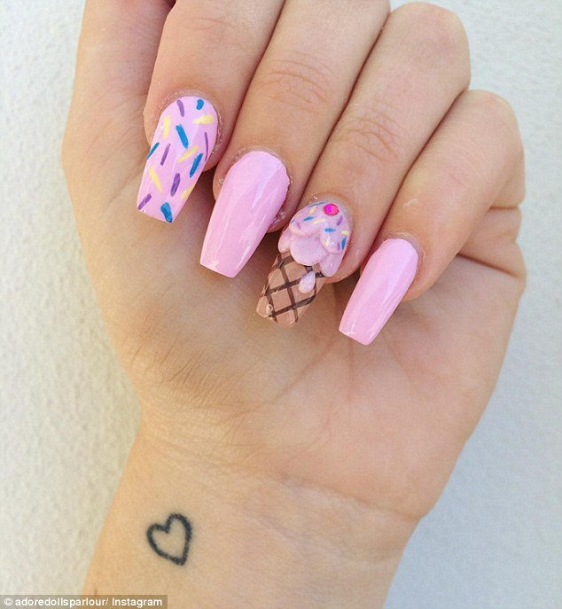 Ice Cream Nails: 3D Ice-cream Nails