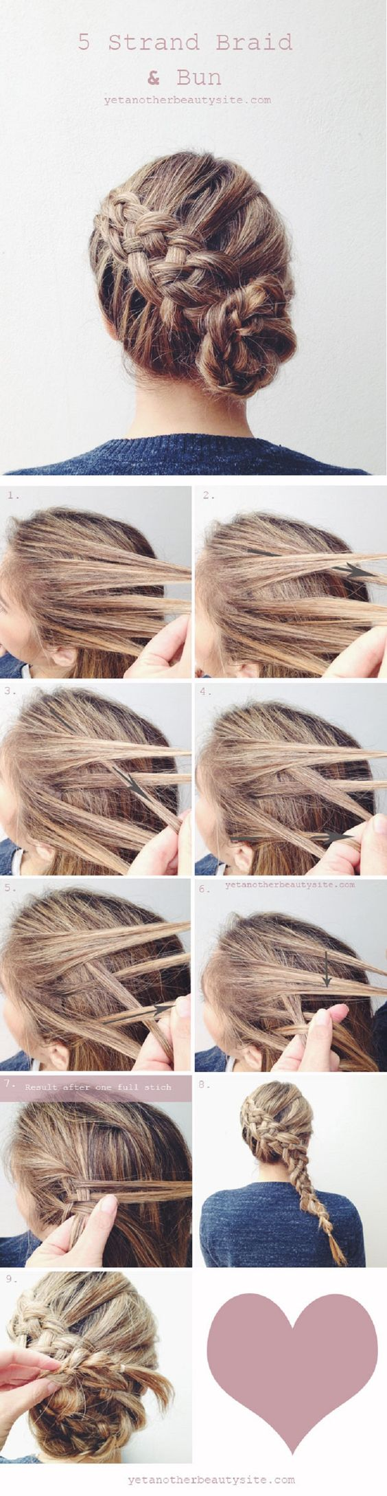 5 Strand Braided Hair via