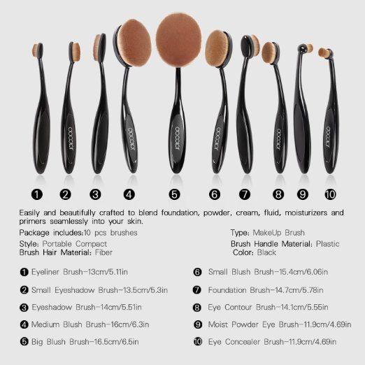 7 Gründe, ovale Make-up-Pinsel zu kaufen