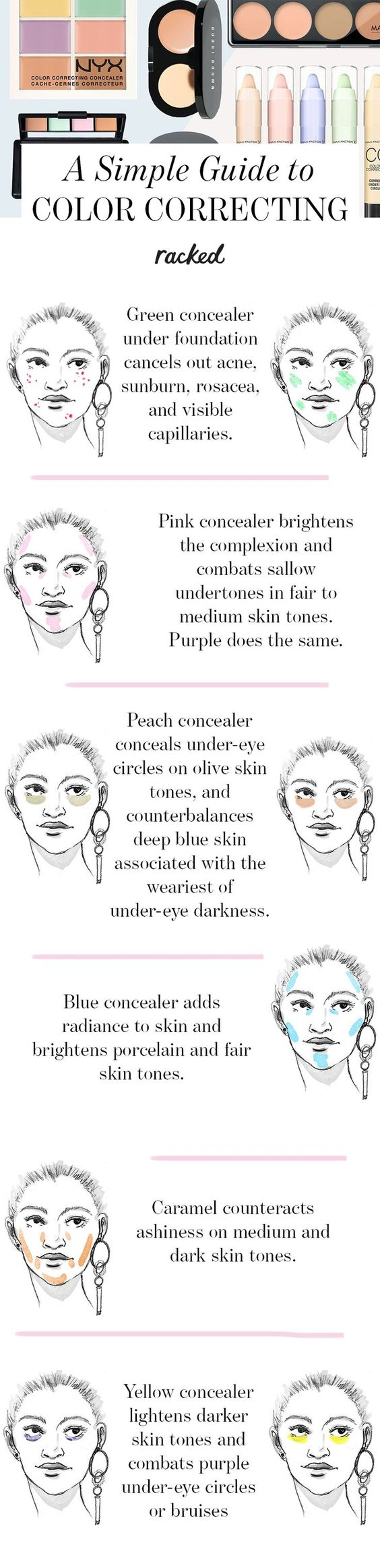 7 Tips For Using Color Correcting Makeup