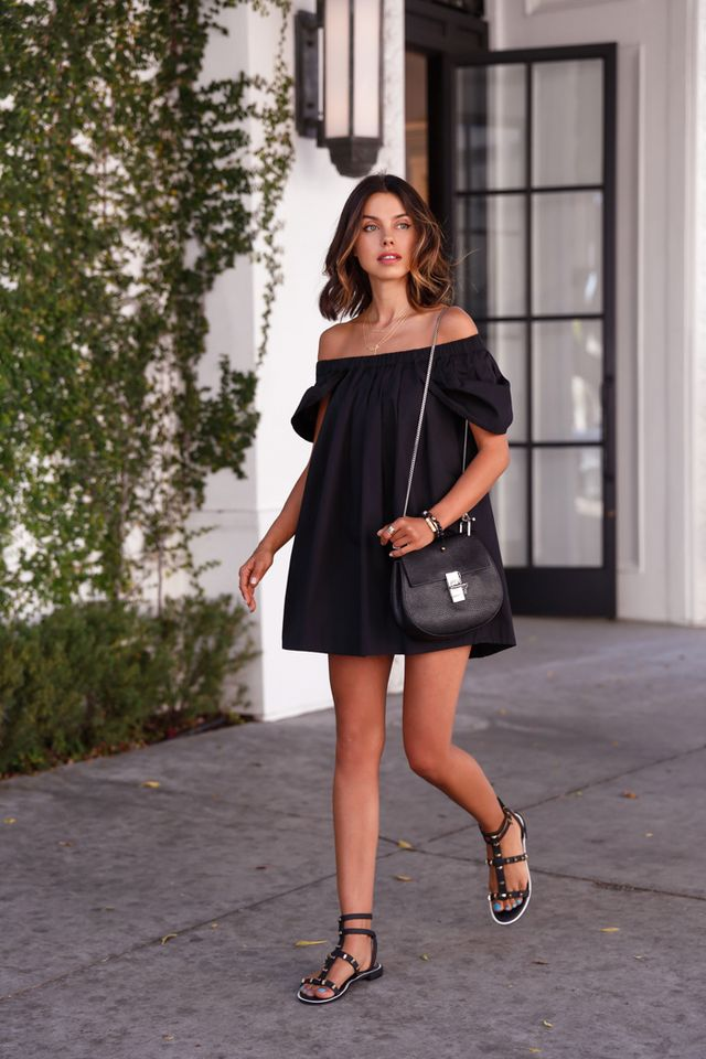 Black T-shirt Dress via