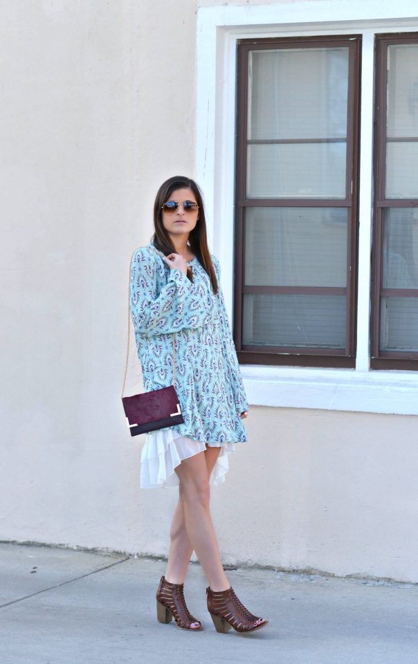 Blue Chiffon Dress via