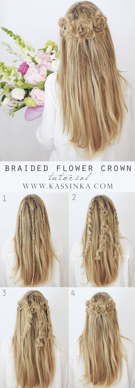Braided Flower Bun via