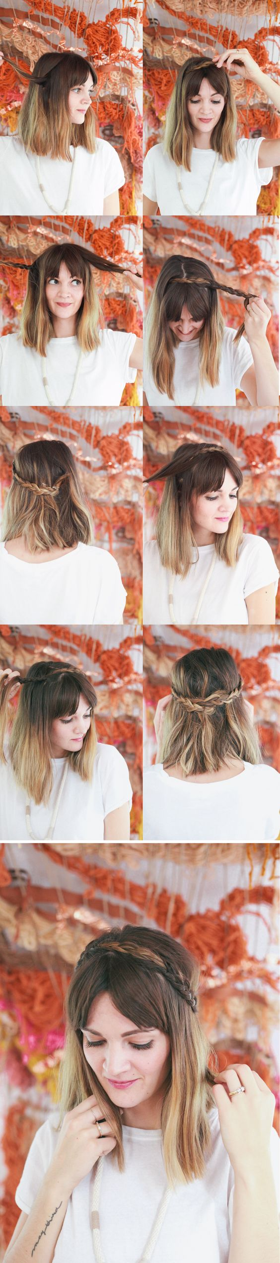 Braided Hair for Mid-length Hair via