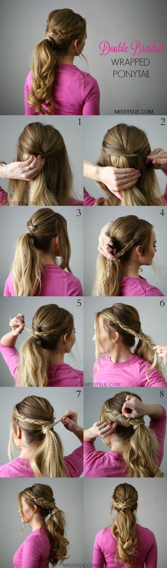 21 Tutorials voor styling Wrap around braids Hairstyles  tutorials styling braids around