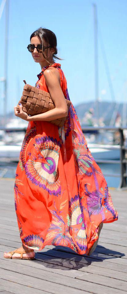 Bright Summer Dress via