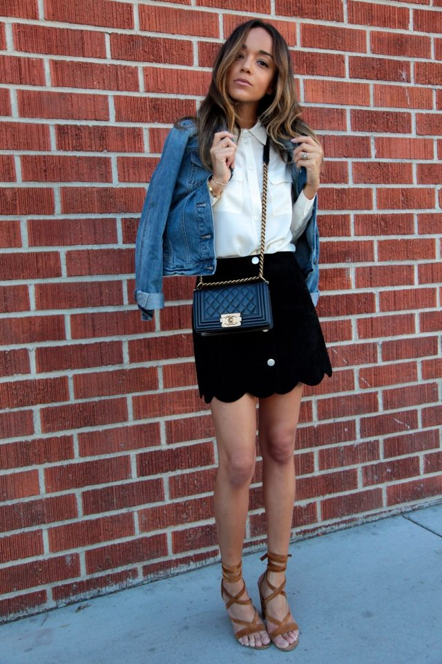 Classic Black and White Outfit via