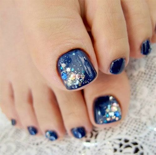 Deep Blue Nails via