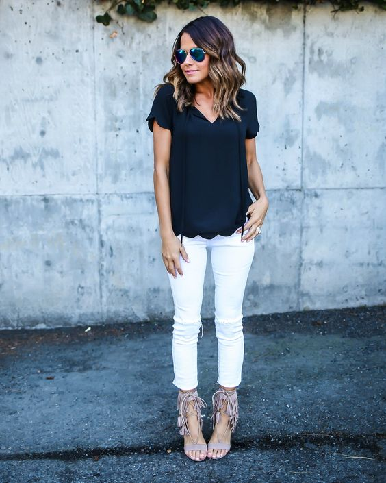 Easy Black and White Outfit via