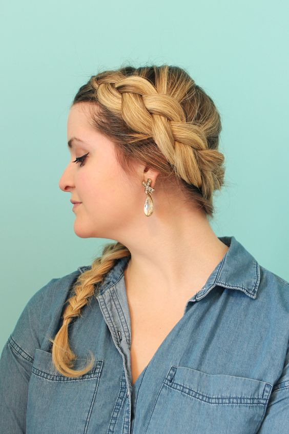 Elegant Wrap Around Braid via