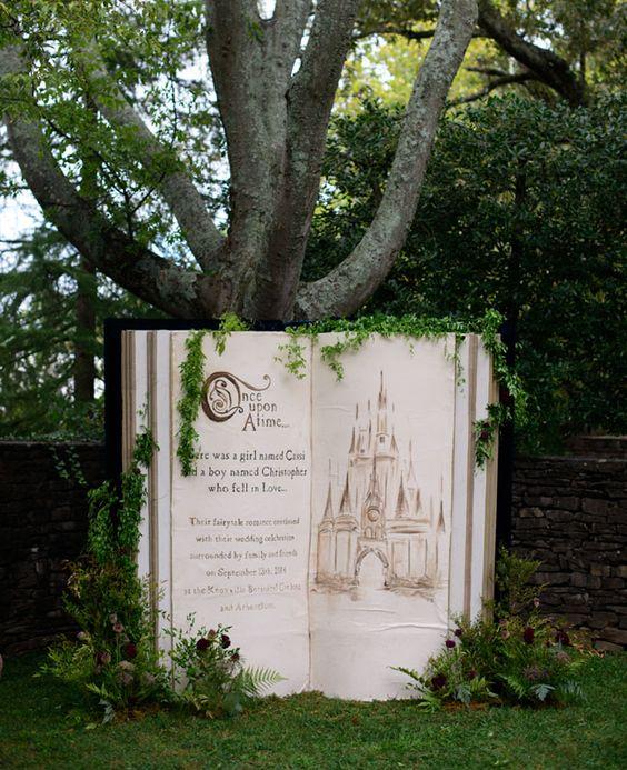 Garden Wedding with a Book via