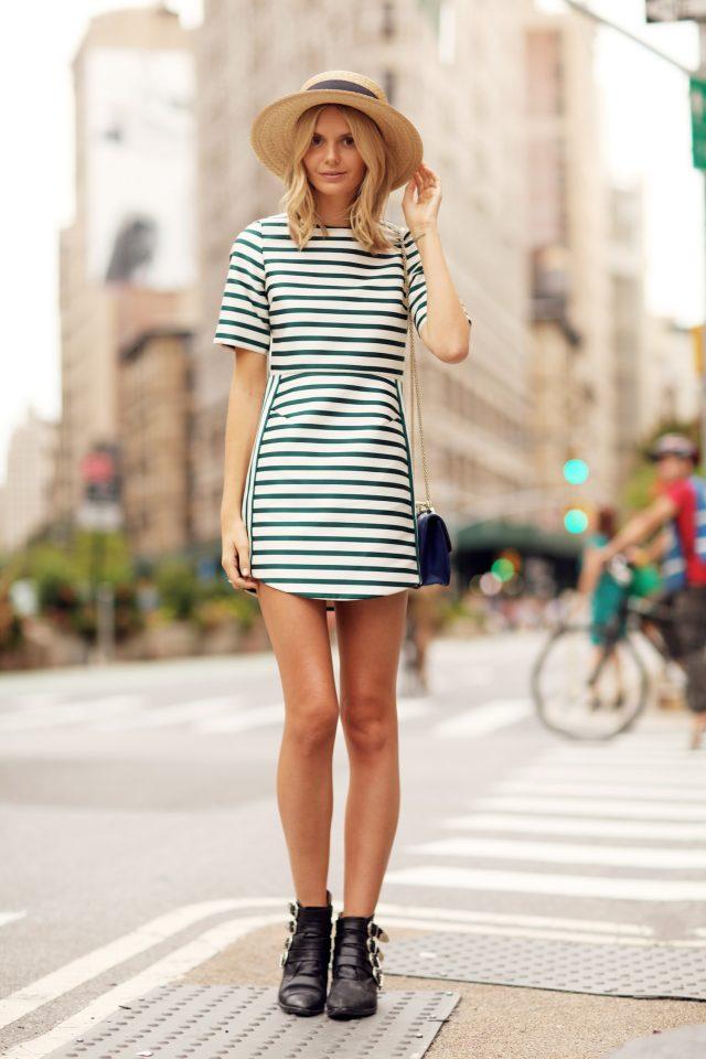 Green Striped Dress via