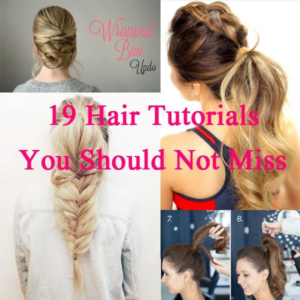 19 Easy Hair Tutorials For Summer 2017 Pretty Designs