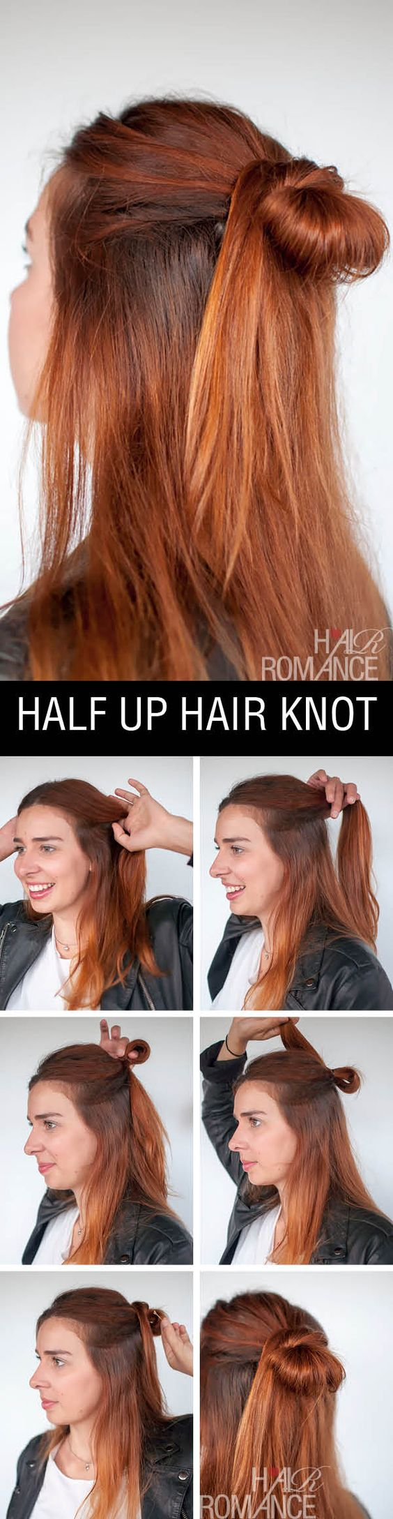 Half up Hair Knot for Bright Hair via